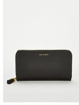 ted-baker-sheea-tassel-zip-around-matinee-purse-black