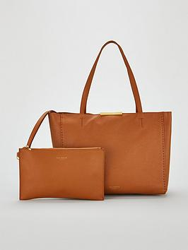 ted-baker-clarkia-soft-grain-faceted-bar-shopper-bag-brown