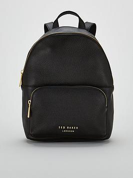 ted-baker-paloya-soft-grain-zipper-backpack-black