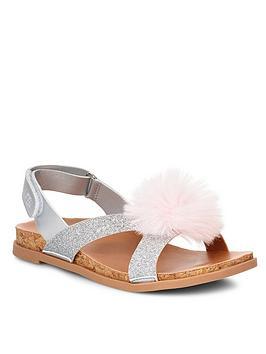 ugg-girls-fonda-glitter-pom-sandal
