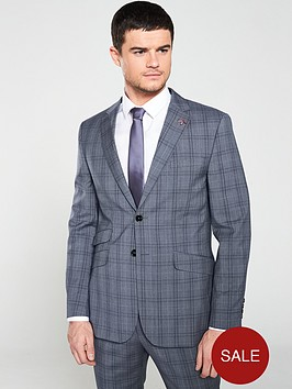 ted-baker-sterling-check-jacket-lilacgrey