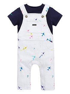a45d118f28d0 Baker by Ted Baker Baby Boys Airplane Dungaree And Polo Set