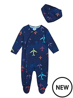 baker-by-ted-baker-baby-boys-airplane-sleepsuit-and-bib