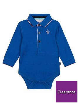 3d6309e1b Baker by Ted Baker Baby Boys Long Sleeve Oxford Polo Bodysuit ...