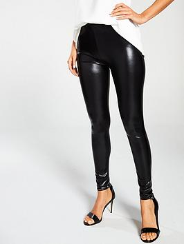 Ann Summers   Wet Look Legging - Black