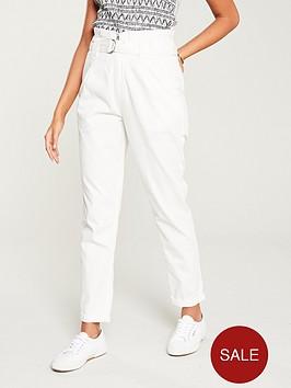 v-by-very-paper-bag-waist-chinos-white
