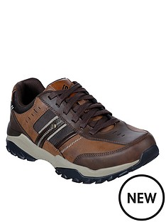 skechers-henrick-delwood-leather-lace-up-shoes-brown