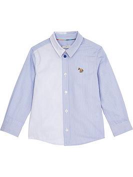 paul-smith-junior-toddler-boys-stripe-zebra-badgenbspshirt-blue