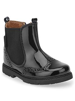 Start-Rite Start-Rite Patent Chelsea Boots - Black Picture