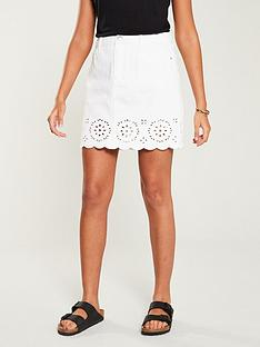 v-by-very-cutwork-denim-skirt-white