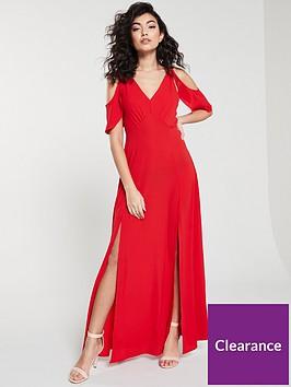 ax-paris-cold-shoulder-maxi-dress-red
