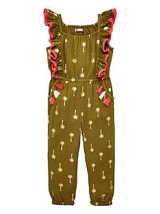 mini-v-by-very-girlsnbsppalm-print-jumpsuit-khaki