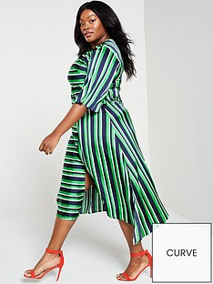 ax-paris-curve-ax-paris-curve-green-striped-tie-midi-dress