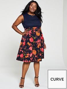 ax-paris-curve-2-in-1-floral-print-skirt-dress-navy