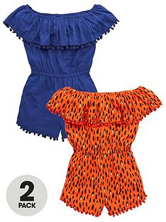 v-by-very-girls-2-pack-bardot-playsuitsnbsp--multi