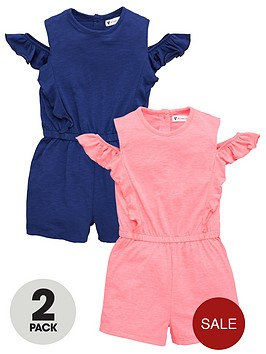 mini-v-by-very-girls-2-pack-cold-shoulder-playsuitsnbsp--multi