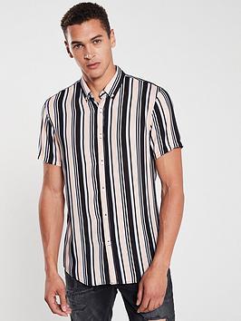 v-by-very-short-sleeved-candy-stripe-shirt-pinknavy