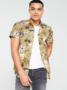 v-by-very-short-sleeved-haiwaan-print-shirt-tan