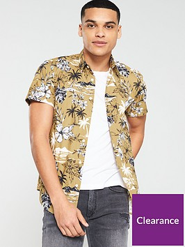 v-by-very-short-sleeved-haiwaan-print-shirt-tan