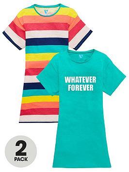 v-by-very-girls-2-pack-t-shirt-dresses-multi