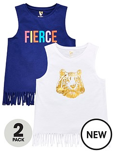 v-by-very-girls-2-pack-foil-tigerfierce-fringe-vests-multi