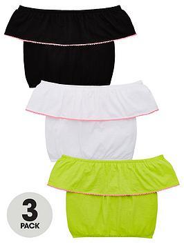 v-by-very-girls-3-pack-pom-pom-bardot-tops-multi