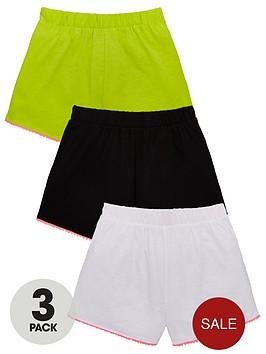 v-by-very-girls-3-pack-pom-pom-shorts-multi