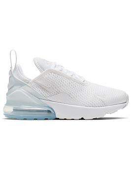 Nike Nike Air Max 270 Childrens Trainers - White/Silver Picture