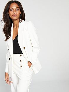 karen-millen-sleek-and-sharp-summer-blazer-ivory