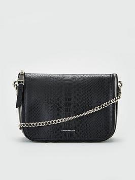 karen-millen-leather-cross-body-bag-black