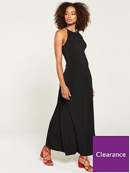 v-by-very-halter-sleeveless-jersey-maxi-dress-black