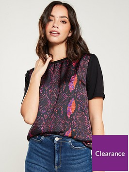 v-by-very-woven-panel-t-shirt-snake-print