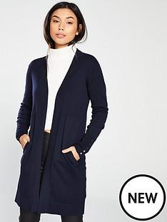 wallis-wool-mix-rib-longline-cardigan