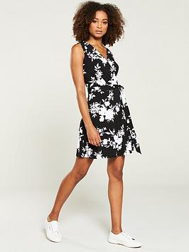 v-by-very-jersey-wrap-mini-dress-print