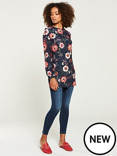 v-by-very-longline-jersey-top-floral-print