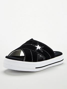Converse Converse One Star Sandal Slip - Black/White Picture
