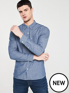 levis-classicnbspone-pocketnbsplong-sleeved-shirt-indigo-chambray