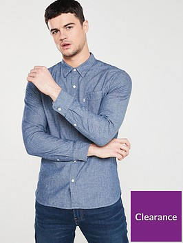 levis-classicnbspone-pocketnbsplong-sleeved-shirt-indigo-chambray