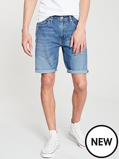 levis-taper-hemmed-short-harbour-blue