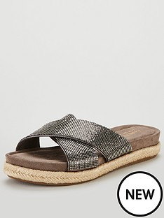 carvela-comfort-glittered-cross-over-flat-sandal-shoes-pewter