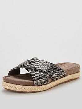 carvela-comfort-glittered-cross-over-flat-sandal-shoes-pewter