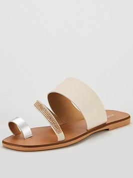 Kurt Sandal Bejewelled Flat Shoes Geiger London Metallic Dawn Strap UzqVSMp