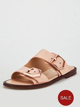 office-sage-double-buckle-trend-flat-sandals