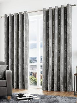 Curtina Curtina Helsinki Lined Eyelet Curtains Picture