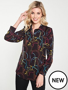 v-by-very-button-through-blouse-chain-print
