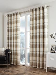 fusion-balmoral-check-lined-eyelet-curtains