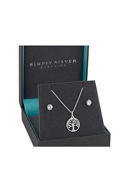 Simply Silver Simply Silver Simply Silver Cubic Zirconia Tree Of Life  ... Picture