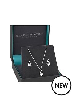 jon-richard-simply-silver-cubic-zirconia-love-knot-earrings-and-pendant-set
