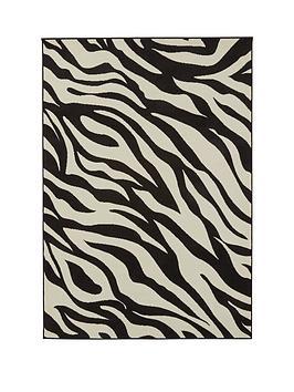 Very Zebra Print Rug Picture
