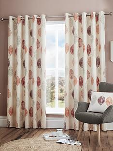 scandi-leaf-lined-eyelet-curtains